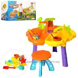 Песочница столик с набором , стульчиком