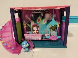 Hasbro Littlest Pet Shop Мини-игровой набор DJ Блайс