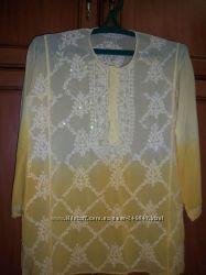 Красивая летняя блуза туника 48-50
