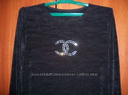 Блуза со стразами шанелька 48