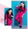 Распродажа Оригинальные розовые спортивные костюмы на девочку со стразами