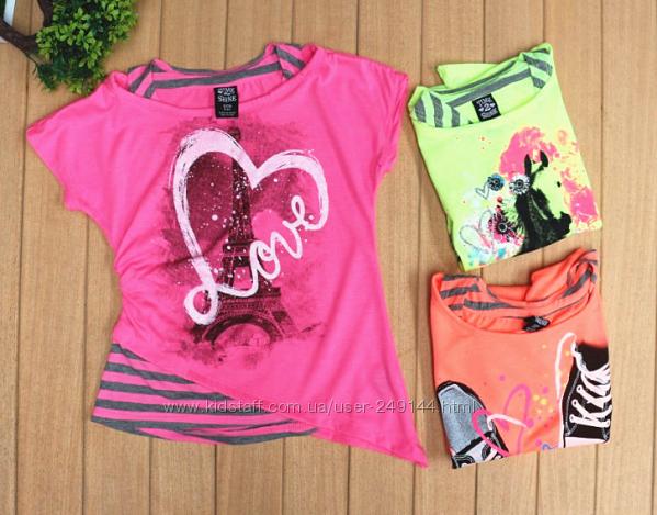 В наличии Фирменные футболки для девочек Time2shine