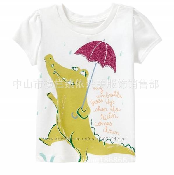 Брендовая футболка Jumping Beans  с крокодилом