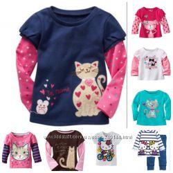 Регланы пижама футболка Jumping Beans с кошками скидка до 20  процентов
