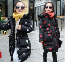 Теплое пальто для девочки зима