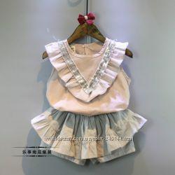 Нарядный летний костюм для девочки 2-7 лет