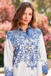 Новинки 2019  Туника рубашка с вышивкой Индиано код 1276
