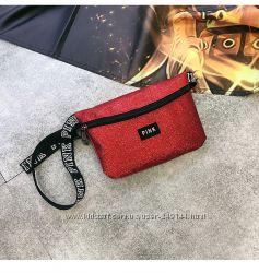 Поясная маленькая блестящая сумочка Victorias Secret Pink