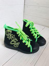 Новые кеды р. 26 бренд befado польша с салатовыми шнурками