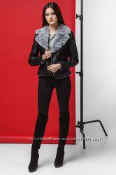 женские куртки и жилетки кожзам PU экокожа