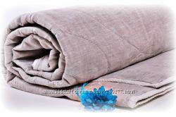 Льняное полуторное стеганное одеяло в льняном чехле Хэппи Лён