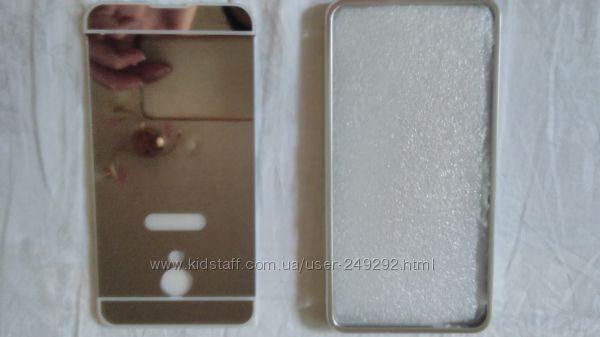 Зеркальный чехол Meizu M3s качественный рамка алюминий модный нарядный