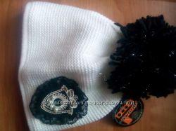 теплая шапка Pawonex Наташа белая