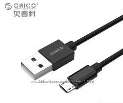 Кабель быстрой зарядки ORICO USB - micro USB, USB - Type-C 0. 2м - 2м.