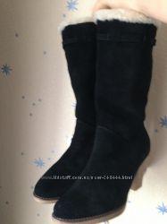 новые зимние замшевые сапожки ELCHE 39 размер на узкую ножку