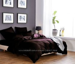 Комплект постельного коричневого цвета от производителя, пошив под заказ