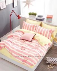 Ткань розовая со звездами и полосами, сатин оптом и в розницу со склада
