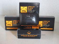 Чёрное африканское мыло с маслом Ши Nubian Heritage, African Black Soap
