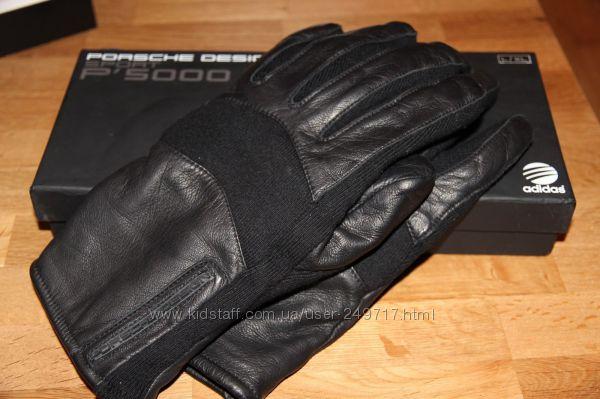 Фирменные кожаные перчатки элитной торговой марки Porsche Design