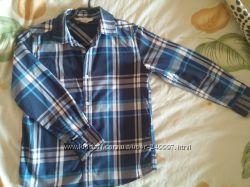Рубашки в клетку б. у. NEXT, REBEL, H&M на 7-9 лет