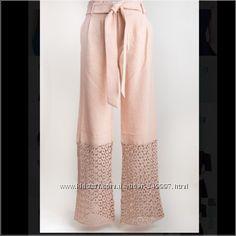 Белые свободные брюки с акцентом из кружева C. Luca С-M размер