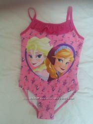 Купальник и панамка DISNEY с принцессами на девочку 6-7 лет