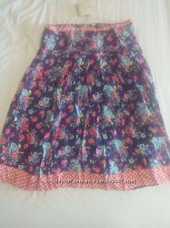 Яркая летняя юбка-миди с цветочным принтом в этно стиле S размер