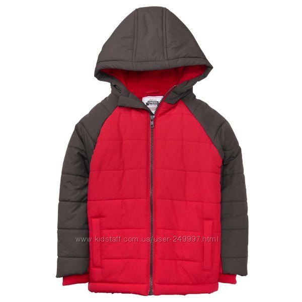 Куртка демисезонная на флисе красно-серая Джимбори на 9-11 лет