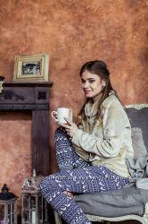 Домашняя одежда ТМ KEY Флиссовые пижамы