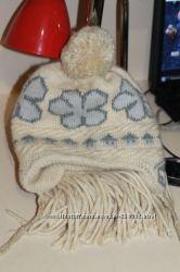Два зимних комплекта шапка-шарф для девочки  7-12 лет