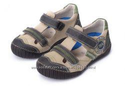 Кожаные летние туфли, мокасины DD Step. 30 размер