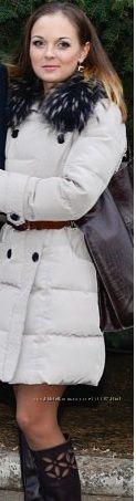 Очень красивое пуховое пальто
