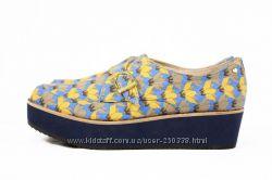Коллаборация  Bass Loves и дизайнера Rachel Antonoff женские туфли