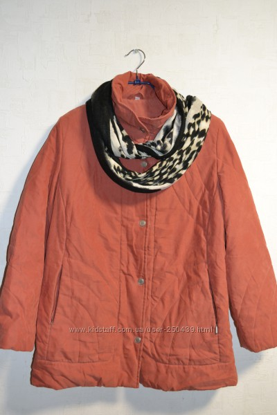 Женская куртка, пальто, прямого кроя л-хл