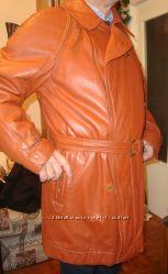 Шкіряний чоловічий піджак з Італії