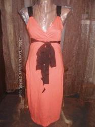Красивенного цвета брендовое натуральное платье. Oodji. Укр 44-46 евр38