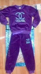 Велюровый  брендовский спортивный костюм Шанель
