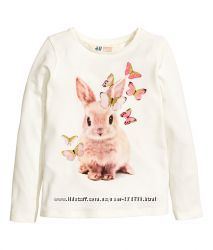 Регланчики H&M для девочек новая коллекция 6-8 лет