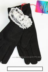 перчатки женские на меху средние р 8. 5    7. 5