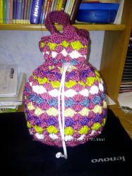 Вязанная сумка для гимнастического мяча в наличии 2 шт.