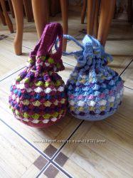 Вязанная сумка для гимнастического мяча в наличии и на заказ