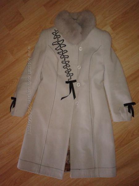 Пальто кашемировое на синтепоне