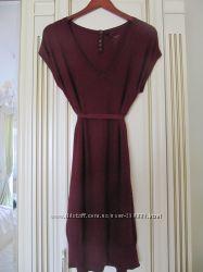 Naf-Naf платье-туника из джерси  цвет вишня  р. М