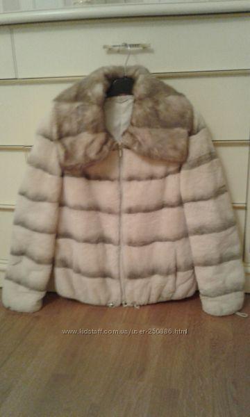 SHEVAS курточка из бобра р. SМ воротник из норки