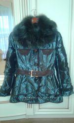 Итальянская курточка с натуральной лисой р. 36