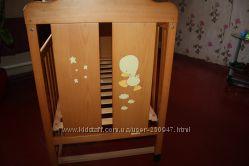 Детская кроватка Micuna  Испания  подарок комплект постельного новый