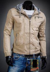 Куртка мужская с отстегивающимся капюшоном из футера