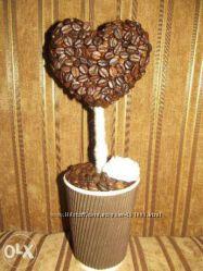 топиарий кофейное сердце