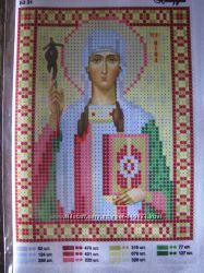 Схемы для вышивки бисером женские именные иконы Нина в наличии