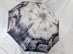 Зонт стильный , женский серия Beautiful London, антишторм, карбон спицы.